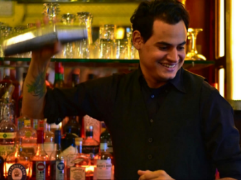 Frank Beltre mixologist    Frank  is an energetic bartender with a lot of passion for cocktails and unconditional lovenfor New York City. He brings some of that Dominican flavor onto his service. With his creative mind, Frank never stops, he constantly creates new drinks, try something different to find the best pairing. Behind a bar he has always a story to tell you and with him the show will never stops.