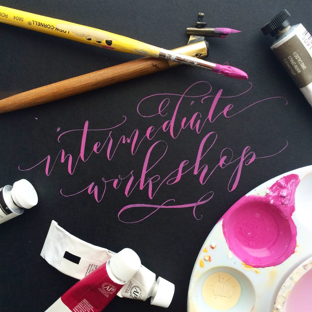 August 13: Intermediate Modern Calligraphy  - WITH Angelique, Ink