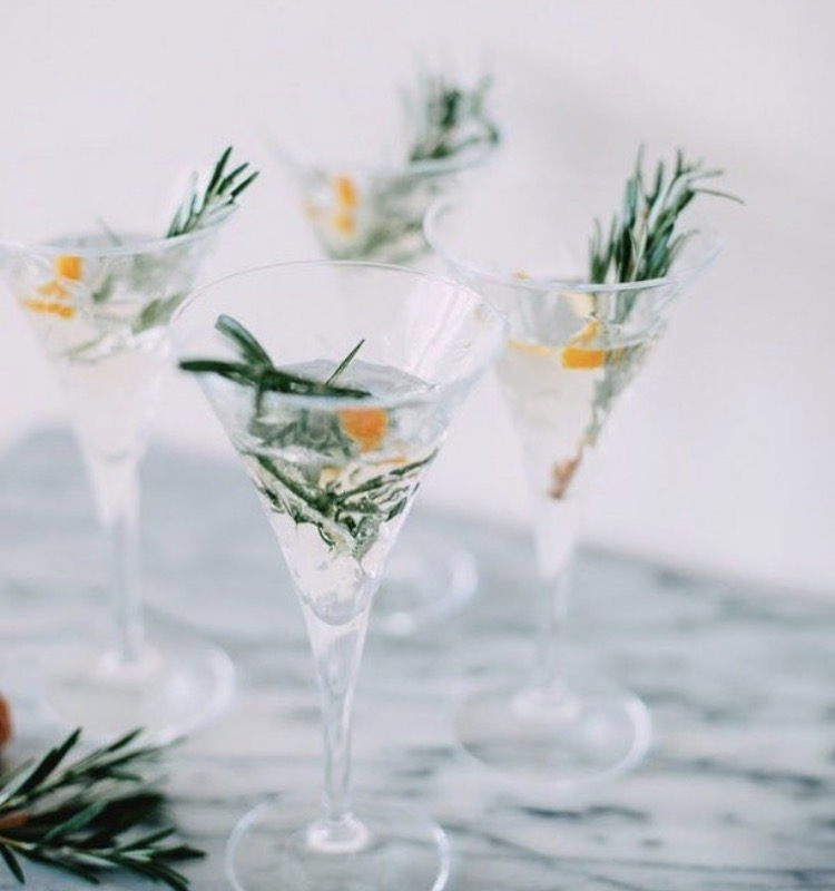 Orange Rosemary Champagne Fizz (@refinery29)