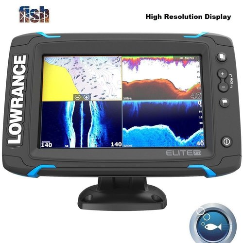 Lowrance Elite-7 Ti Touch Fishfinder/Chartplotter 83/200/455/800 HDI  Transducer
