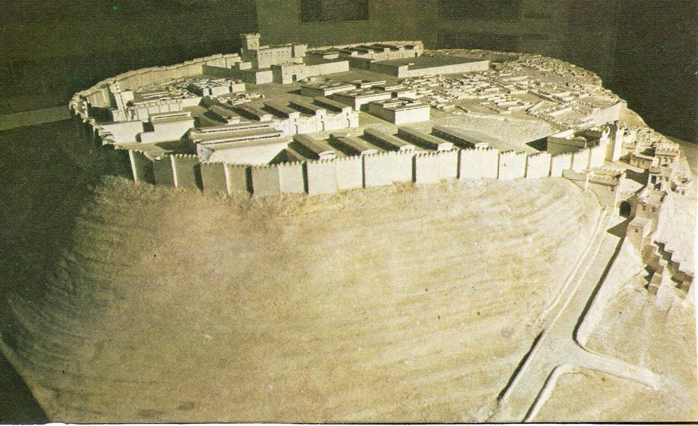 Model of Megiddo, 1457bce.  Image from Wikipedia.