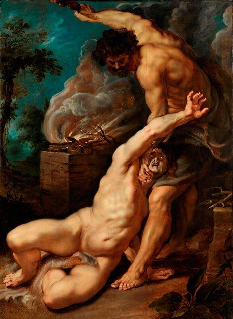 Cain Slaying Abel (with a baseball bat?!)- Peter Paul Reubens.
