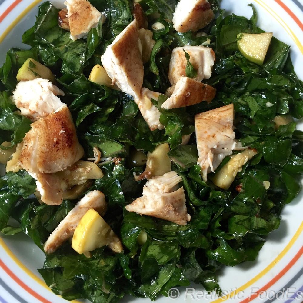 Winner, Winner, Kale-Chicken Salad, Dinner. YUM!