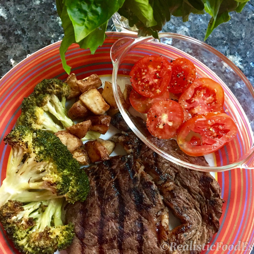 Steak & Potatoes remade -- Real Food style! A colorful plate of locally, organically, sustainably raised and responsibly farmed ingredients 😘🤗