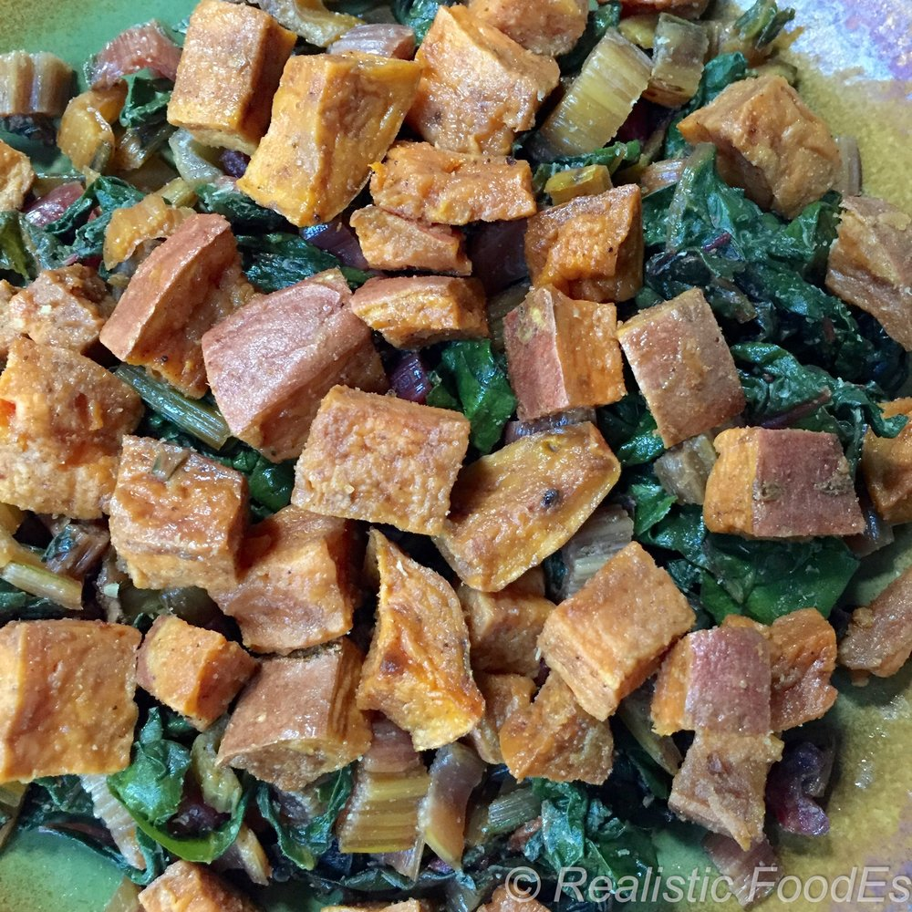 Sweet Potatoes & Chard