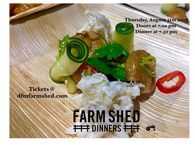 August #dfmfarmshed is here! Reserve your early bird seat with 10% off! Use EARLYBIRDS promo - link in bio #tresdallas #popup #eatlocal #dallasfarmersmarket