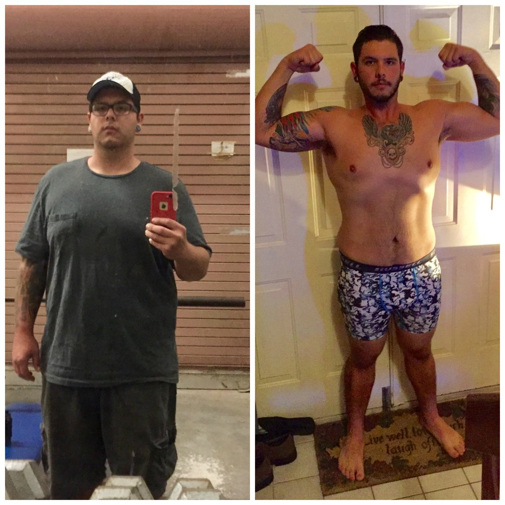 My weight loss journey started in April of 2016 after I went through a difficult point in my life. I wasn't happy the way I was and it was time to redefine myself. Thus started my weight loss journey. I asked a coworker and friend who happened to be a P.E. teacher for some help. He gave me a run through on a weight lifting routine and diet change. I cut carbs dramatically switched to high protein diet, worked out 30 minutes 3 times a week and started walking 3 hours a day. I gravitated toward long walks. I had noticed some weight loss by mid May, I had lost around 30lbs.     My sister had been doing group training with Jen and asked if I could join. Jen was happy to take me as a client and I started going for an hour on Saturdays to group sessions. Jen started training me and teaching me the proper ways to lift and exercise. I took that knowledge to my gym 3 times a week continued to walk for 3 hours and Saturday   personal training with Jen.     I also followed the diet change to eat healthy and lose weight.