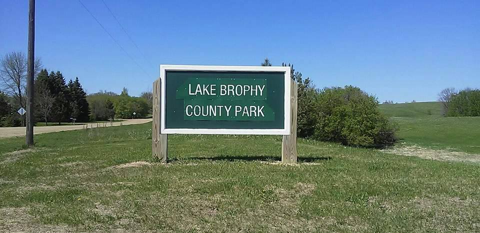 Sign on 'Brophy landing' road