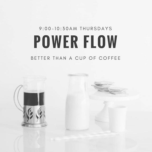 Join Shannon for #powerflow 9:00-10:30am. . #betterthanacupofcoffee . #yoga #yogaonealex #yogastudio #mnyoga #professionalyoga #explorealex #likeitliveit #livingalexarea #downtownalx #exploremn