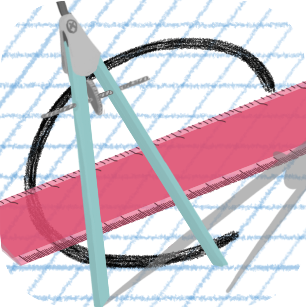 iOS App: Coplanar - Coplanar is an absolute must if you teach geometry. The app basically makes geometry diagrams for you. Of course, the geometric components are dynamic and the diagrams are fully customizable, from labels to LaTeX. You will be astonished by how much time you save.
