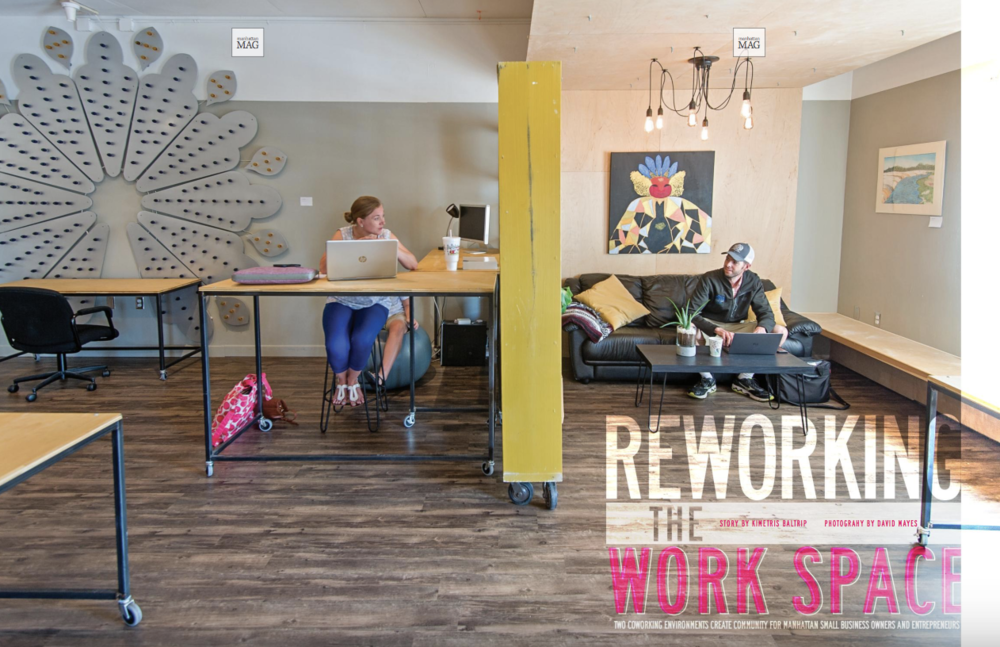 The Fellow Coworking Manhattan Kansas shared office space entrepreneur coffee shop remote employee