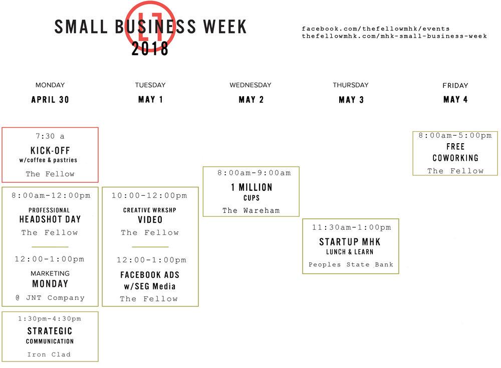 Small Business Week Calendar Manhattan Kansas The Fellow Coworking