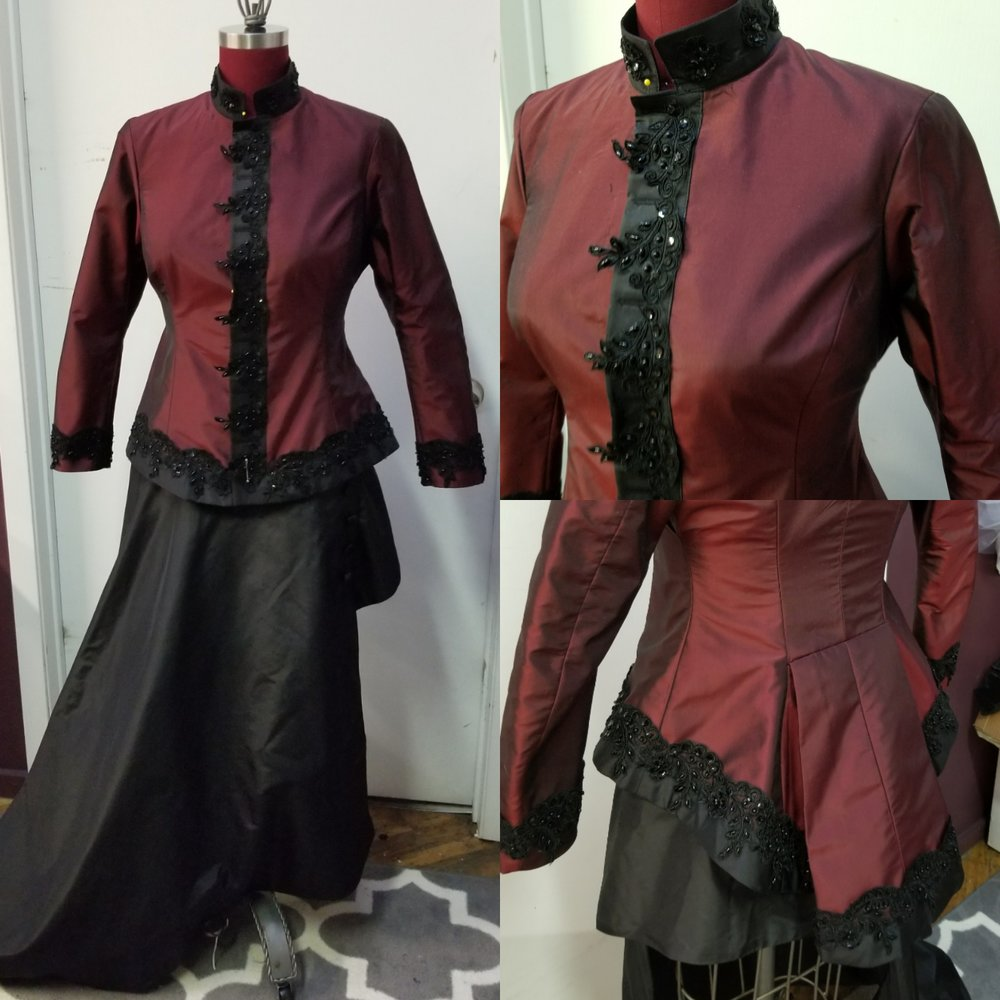 custom equestrian side saddle jacket and skirt
