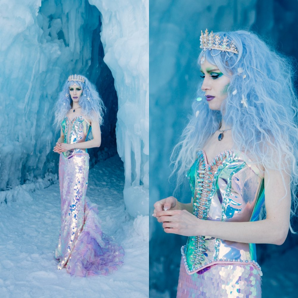 custom mermaid drag dress