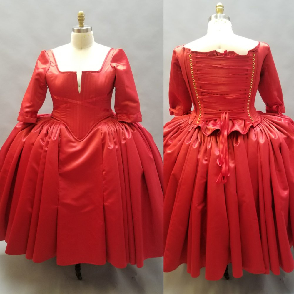Outlander Red Dress Cosplay