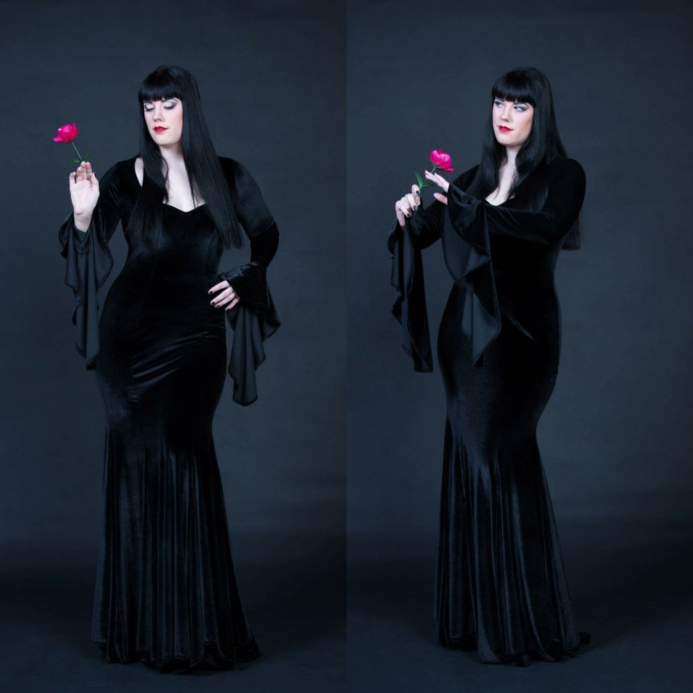 Morticia Addams custom dress