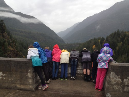 Students overlooking Diablo Dam.