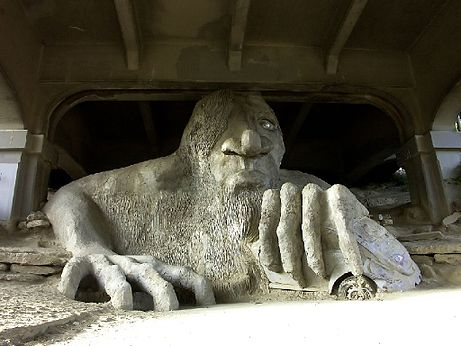 Fremont Troll. Photo courtesy of  Wikimedia .
