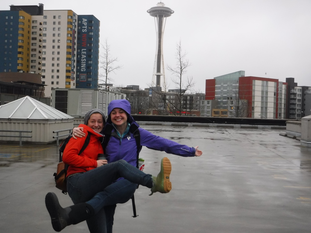 C15's Annah Young (left) and Emily Baronich (right) excited to be in the big city.