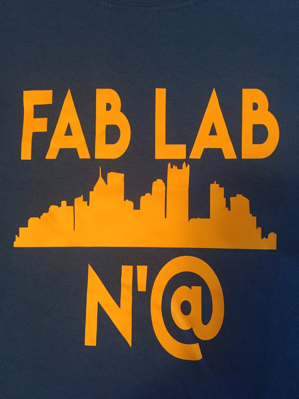 First T-shirt Ben designed at the Fab Lab