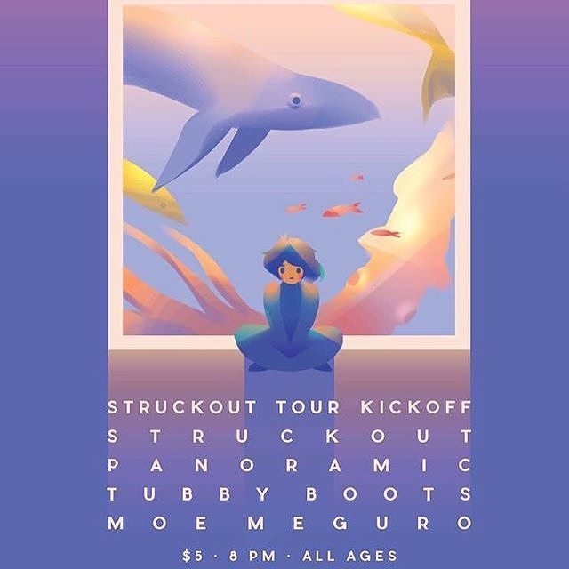 Playing @struckoutlbc's tour kickoff tomorrow night @beatnikbandito in Santa Ana hosted by @_pacificnature with @panoramiclol and Moe Meguro