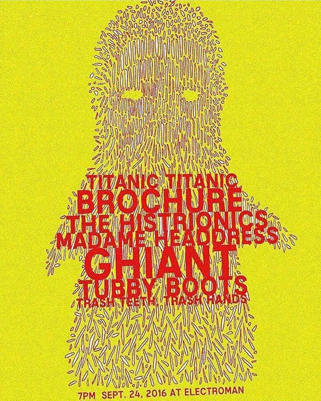 Excited for this show on Saturday! Some badass bands playing! @mental_illnessrecordings #tubbyboots #brochure
