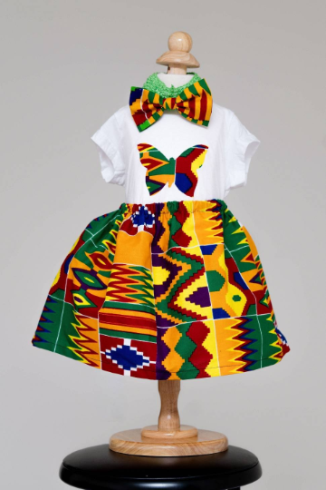 c8d90c0be9571 African Print Baby Set (Onesie, skirt, hairband) — Eliba Collections