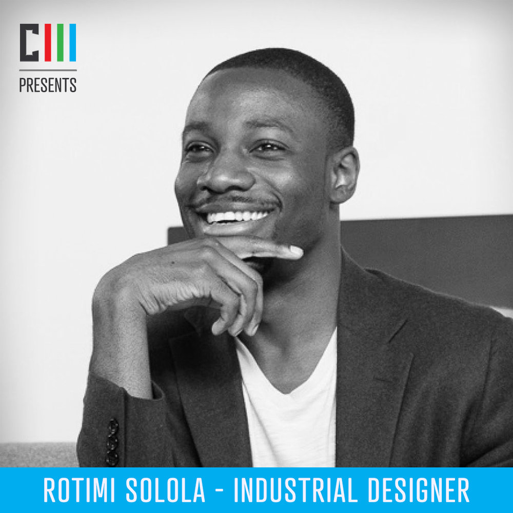 Rotimi Solola - Industrial DesignerRotimi Solola is an award winning Chicago-based industrial design consultant. With experience in both consulting and corporate environments, Rotimi has contributed to the successful launch of multiple products and is involved with the design community by speaking at conferences and judging design competitions.