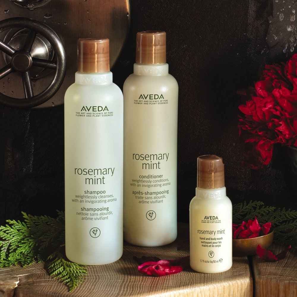 Tingle All The Way $29.50 (20% savings) - Rosemary Mint invigorating hand and body wash, shampoo and conditioner.