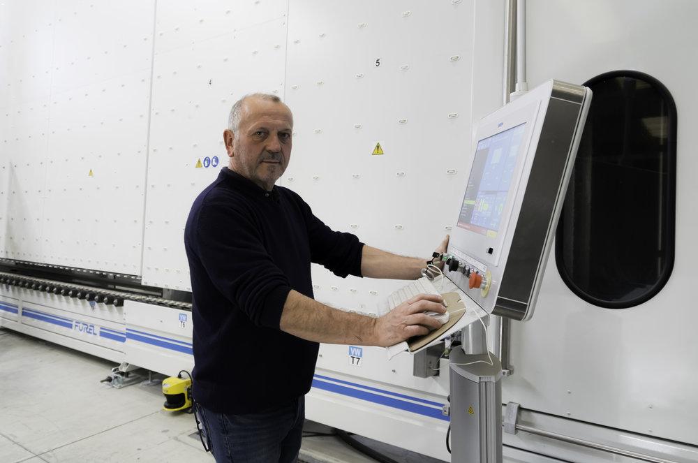 Maurizio Capello, Production Manager of Vetrodomus