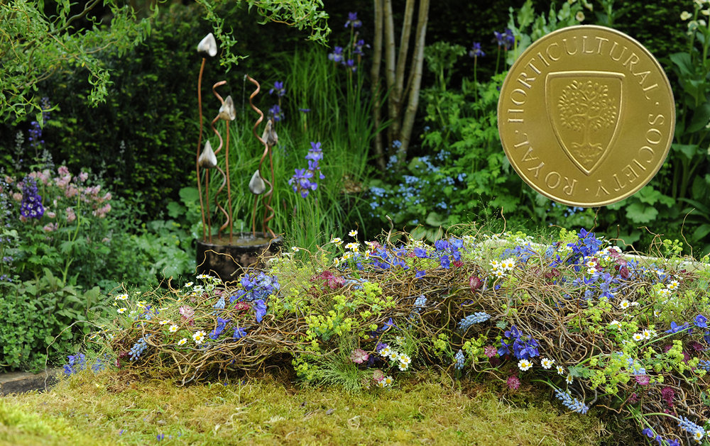 "Alison Doxey co designer and RHS gold medal winner for the Artisan garden ""The Garden Bed """