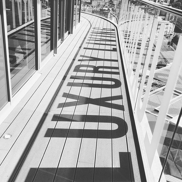 Working from our site in Bournemouth the other day we came across this brilliant shadow on the penthouse deck #penthouse #shadowsdontlie #decking #bournemouth #terracemount #typography #creativeprojects #architecture #design #interiordesign #branding #experiences #experiential #property #designers #creative