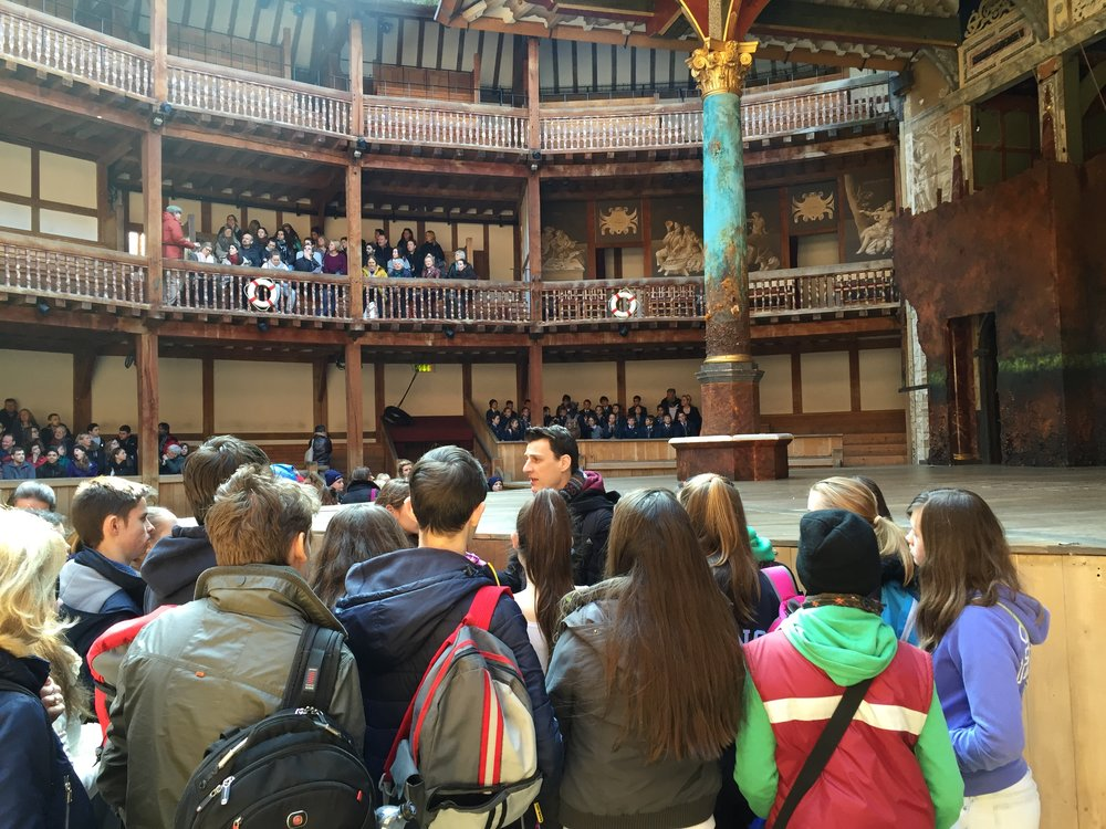 On the tour at Shakespeare's Globe March 2016