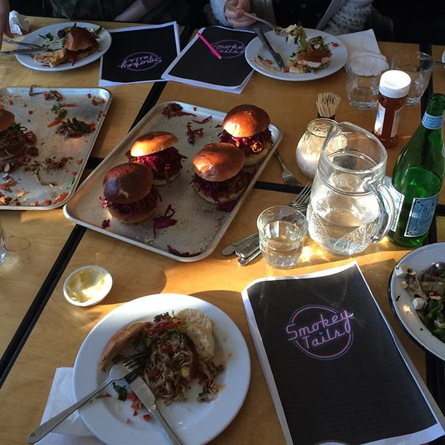 Menu tasting for an exciting new secret 2016 London venture.... watch this space #menutasting #london #smokeytails #pulledpork #bbq #watchthisspace @stroxler