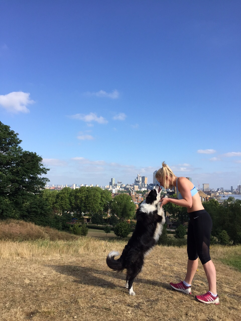 Me and my dog Gatsby in Greenwich