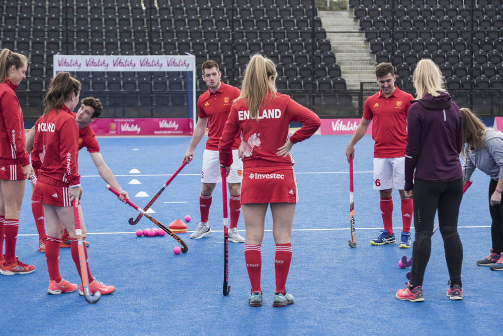 Photos via Vitality UK from the Viality England Hockey partnership launch