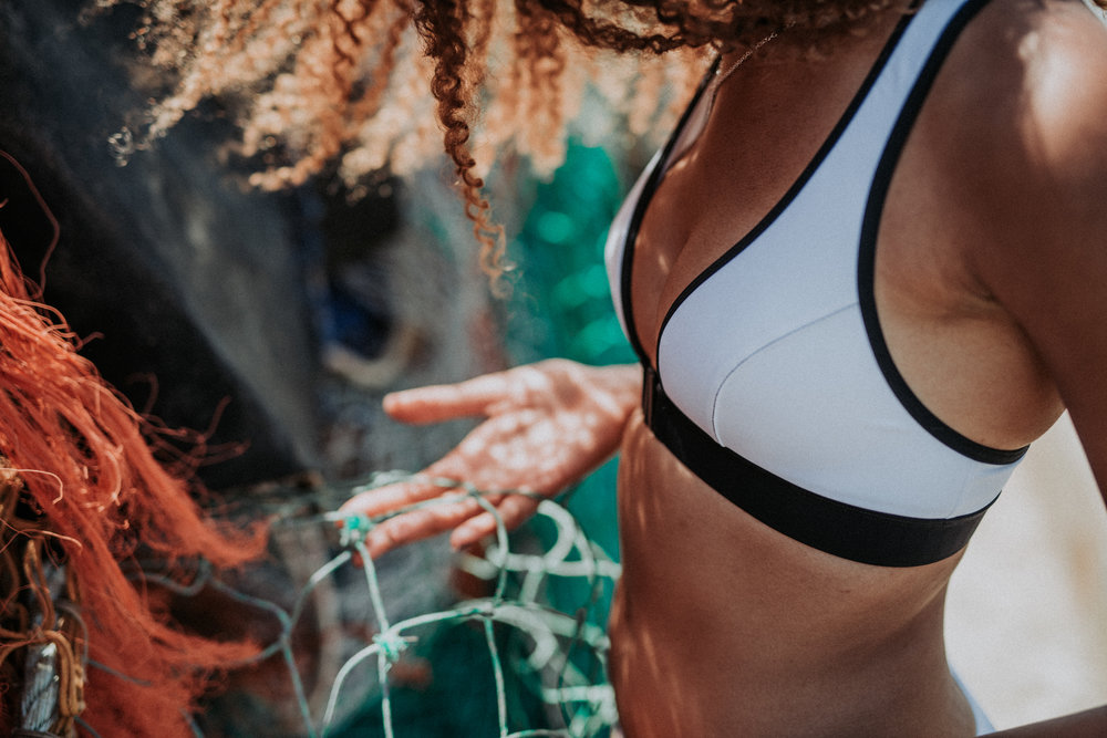 Davy J eco-swimwear made from fishing nets