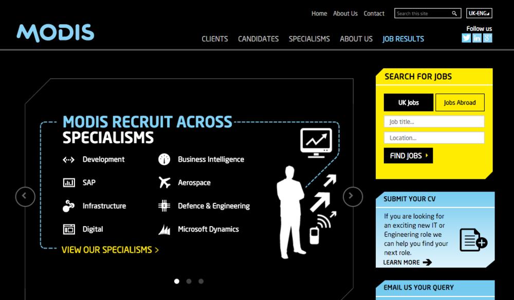A new website for Modis UK