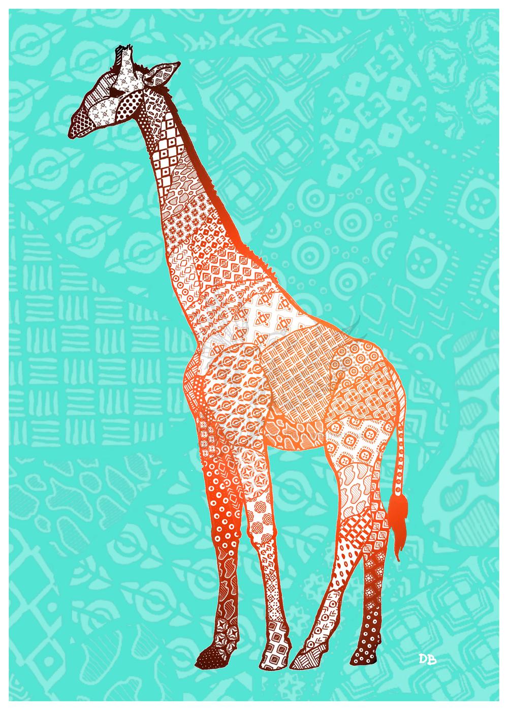 Zentangle Giraffe