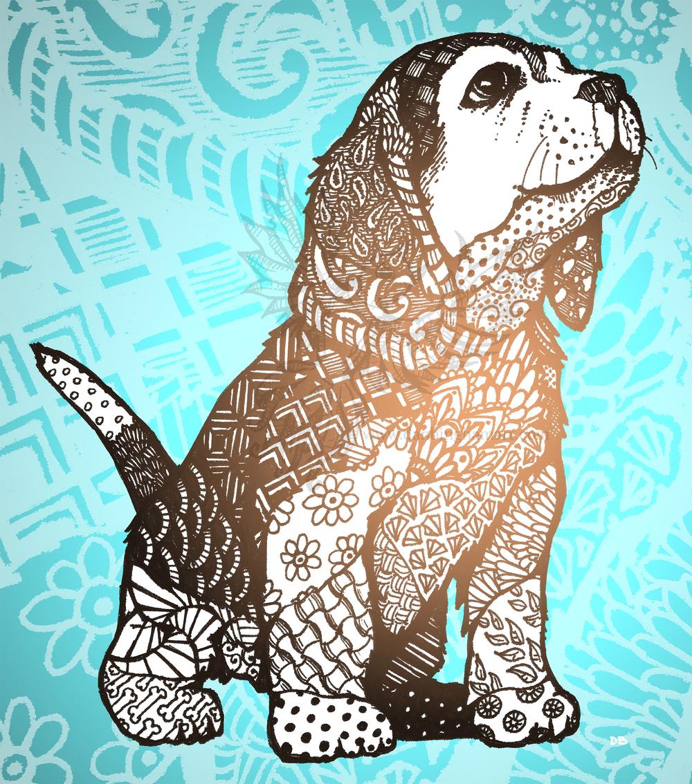 Zentangle Puppy (Beagle)