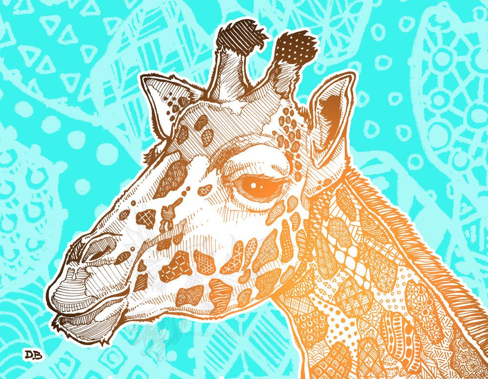 Zentangle Giraffe (Face)