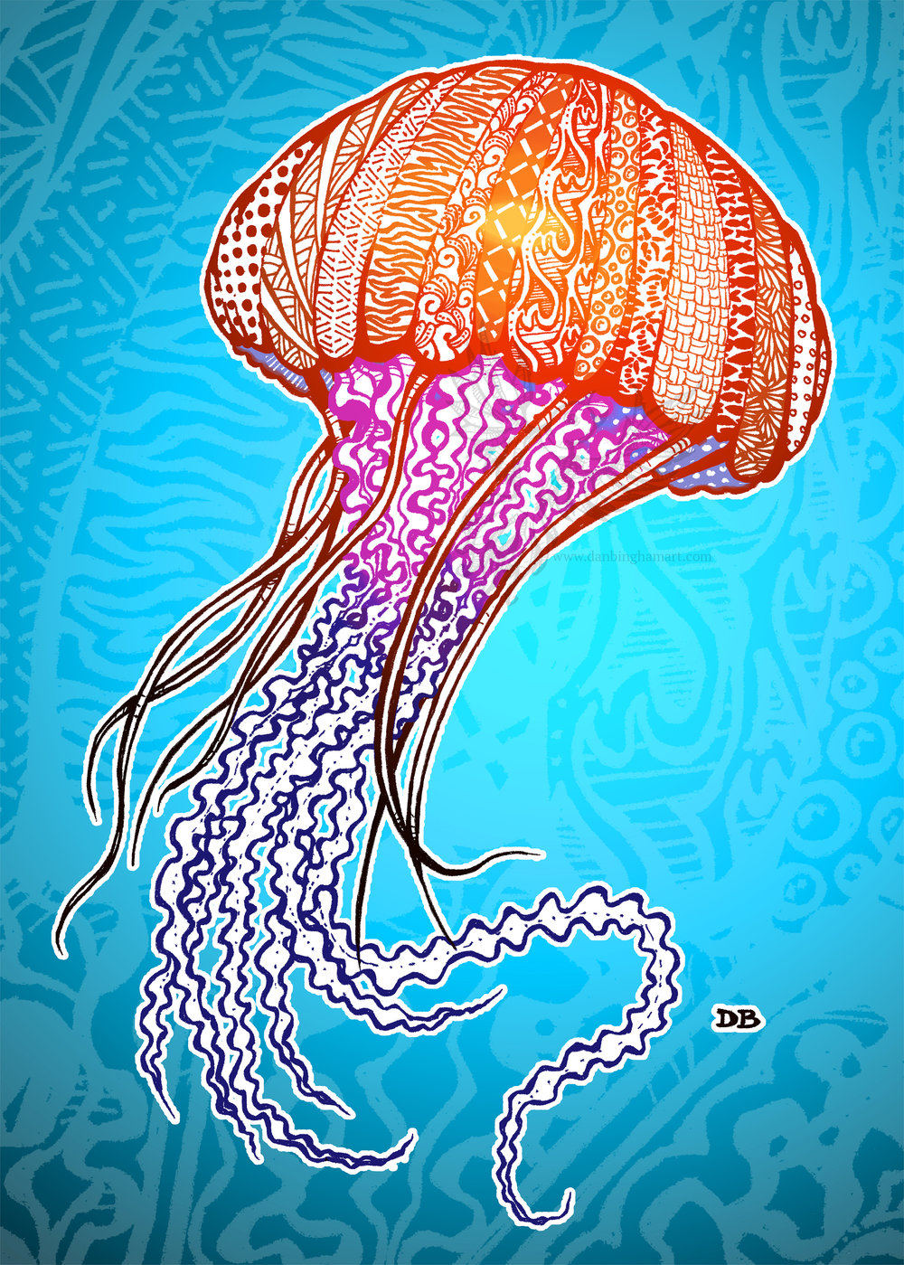 Zentangle Jellyfish