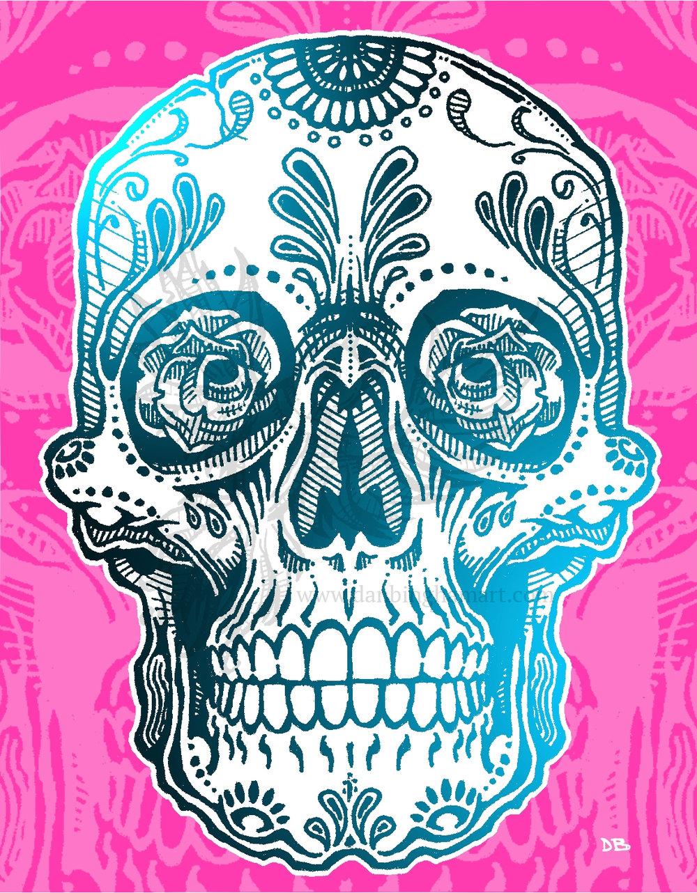 Sugar Skull (Blue/Pink Variant)