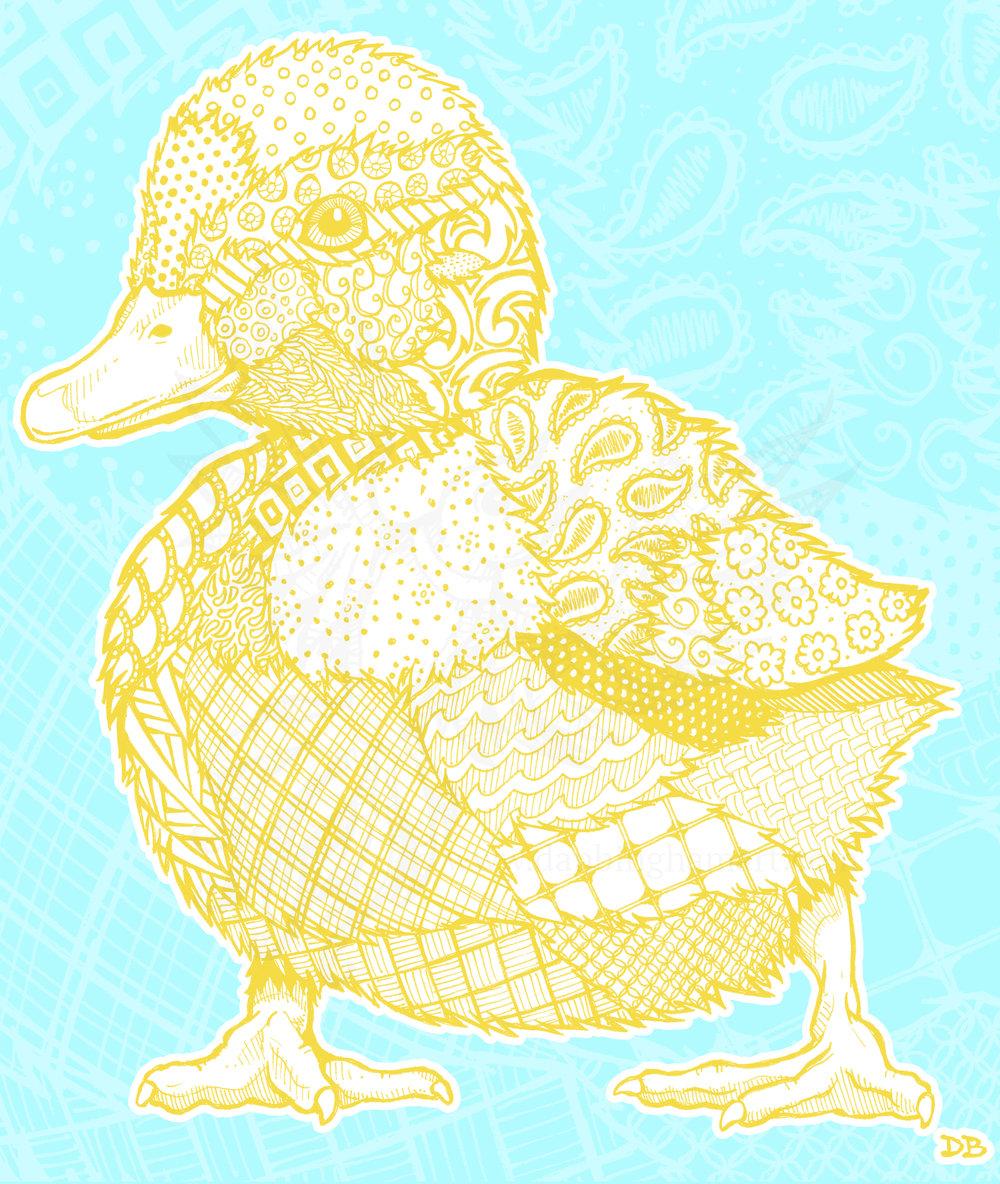 Zentangle Duckling