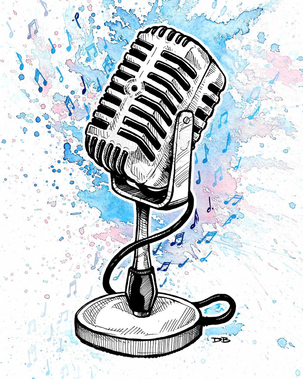 Vintage Microphone (Splash)