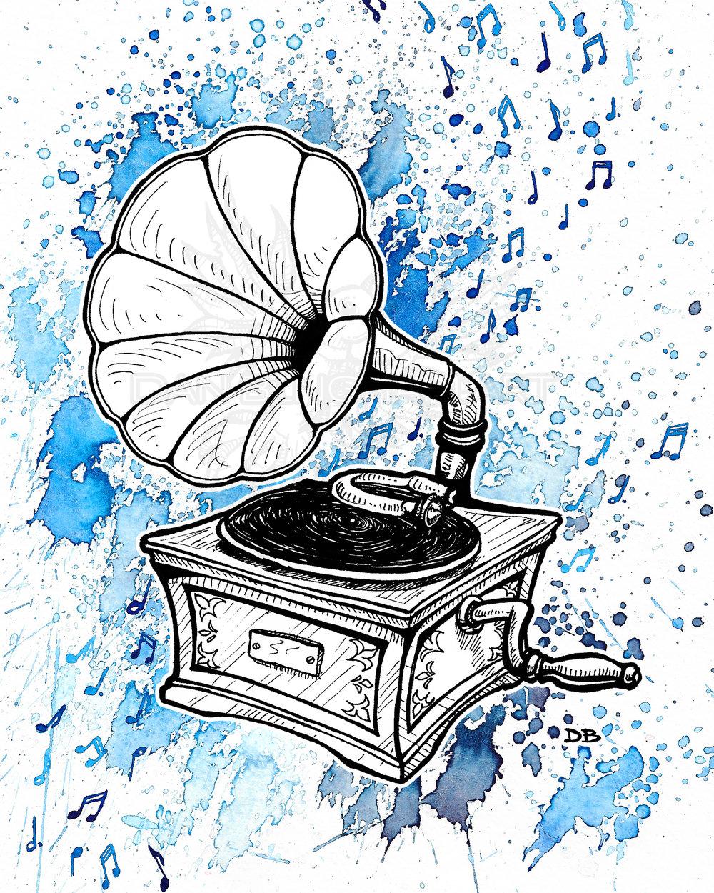 Vintage Record Player (Splash)