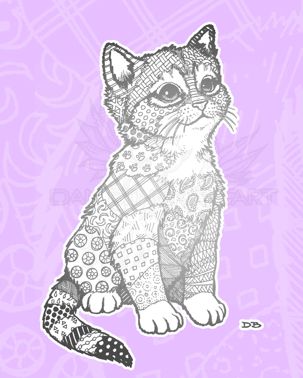 Zen Kitten (Sitting)