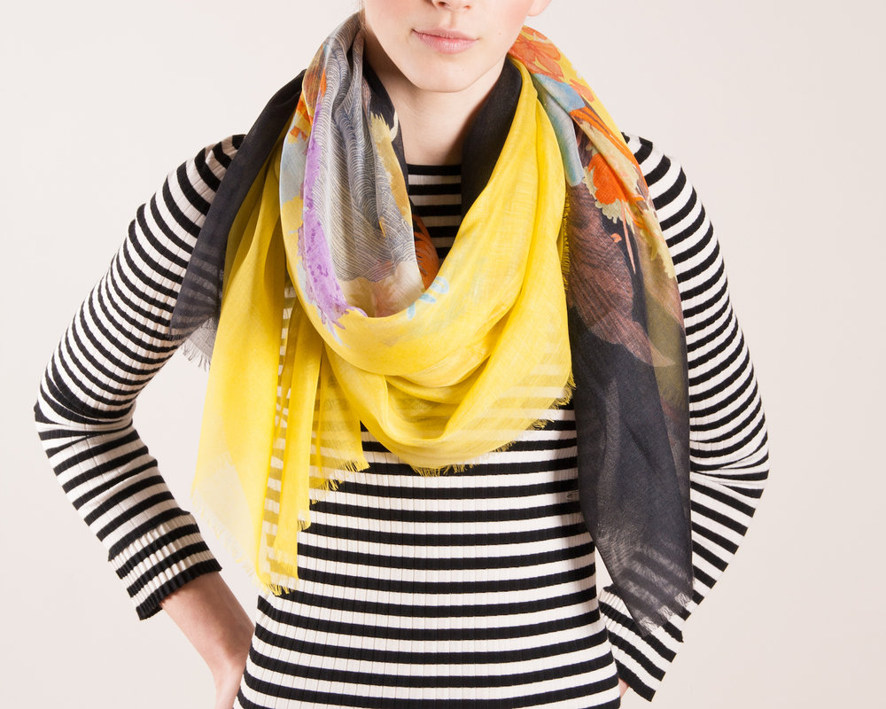 Scarf: Dries Van Noten    Top: Philosophy