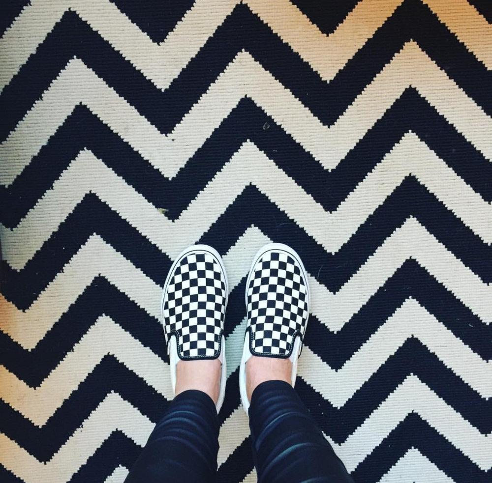 Shoes by Vans rug from Next.   https://www.vans.co.uk/shop/en/vans-gb/checkerboard-classic-slip-on-shoes-veyebww