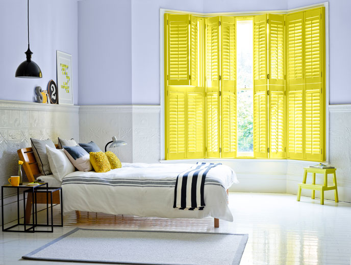 Photos by Painthouse  Shutters by California Shutters  Shutters in Nikolonia walls in Liv